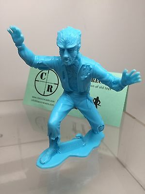 Recast Marx Universal Monster Wolfman Wolf Man. About 4.5 Inches . Blue
