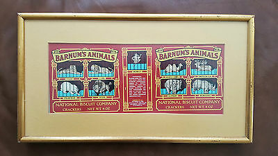 Vintage Framed Barnums Animal Crackers Picture - Rare!