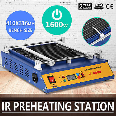 IR Preheating Oven T8280 Rework Station Infrared Heat Temp-Set Button Pcb Board