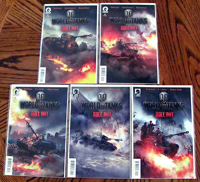 World of Tanks Roll Out 1 2 3 4 5 complete NM lot by Garth Ennis video game HTF