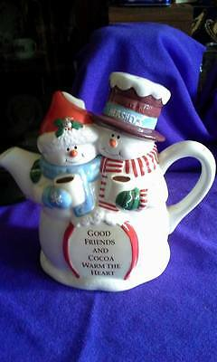 Hershey's Foods Corporation Cocoa Pot; Snowman; Made in China