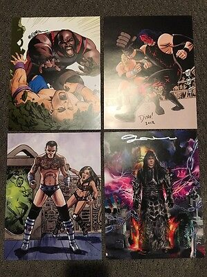 4 Set WWE Comic Cover Prints Signed NYCC 2013 Undertaker