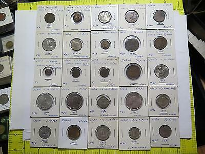 India Native Gwalior Pice 1/4 Anna Paise 1 Rupee Old Mix Coin Collection Lot Bb