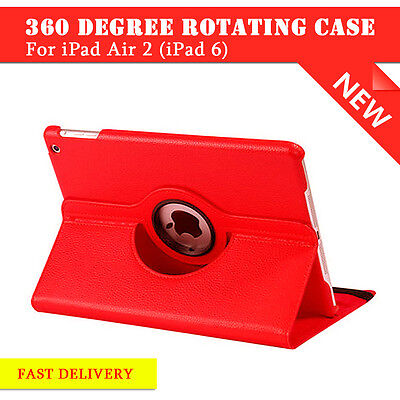 Leather 360 Degree Rotating Smart Stand Case Cover For APPLE iPad Air 2 6  (R038