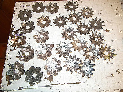 Lot Of 26 Vintage 30S Punched Tin Christmas Light Reflectors