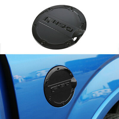 1* Black Fuel Filler Cover Gas Tank Cap Round ABS fit for Ford F-150 2015-2018