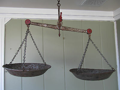 Vintage Antique Balance Scale w/ Weights