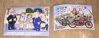Idle Of Man Stamps Lot 2 Mini Sheets Mind How You Go TT Festival Fortnight