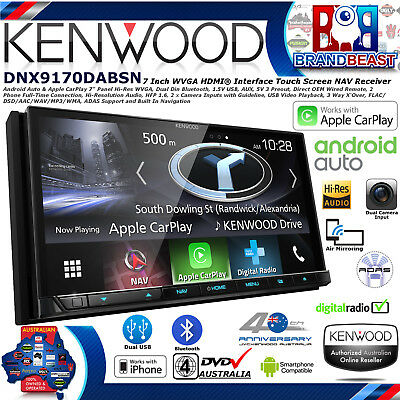 "New Kenwood Dnx9170dabs 7"" Navigation Apple Carplay Android Auto Dab+ Dvd Bt Nav"