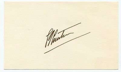 JACQUES COUSTEAU  1973 Signed Index Card KOA Authenticated
