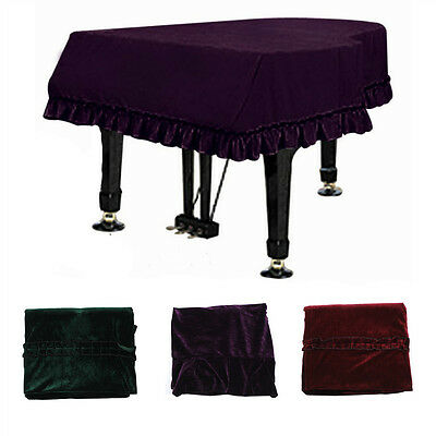 3 Colors High-grade Thickened Pleuche Grand Piano Cover Dust-proof Piano Cover