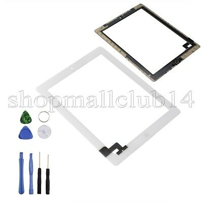 Weiß Display Glas für iPad 2 Front Touch screen Bildschirm Scheibe Digitizer