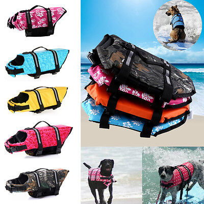 Pet Dog Safety Vest Reflective Swimming Preserver Clothes Puppy Saver Costume HG