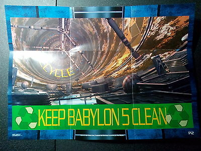 Babylon 5 - Keep Babylon 5 Clean A5 Promo Poster 1996 P2