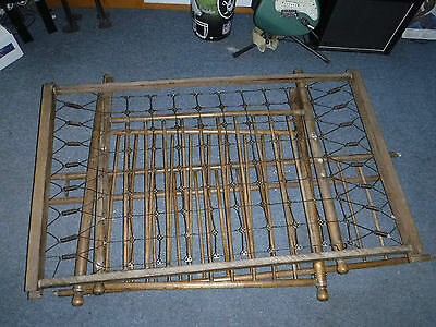Antique Wood Baby Crib. 100 Years Old ? No Stain Blistering,kero- Walnut ? Rub