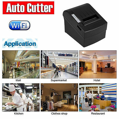 WIFI Wireless POS Thermal Receipt Printer 80mm Auto Cutter/Ethernet/Serial kiosk