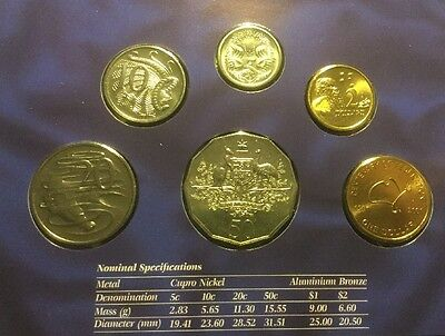 From An Estate Australia 2001 Centenary of Federation UNC 6 coin Mint Set