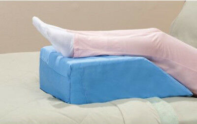 NEW LARGE HERMELL Softeze Elevating Leg Rest WEDGE PILLOW + Blue Washable Cover