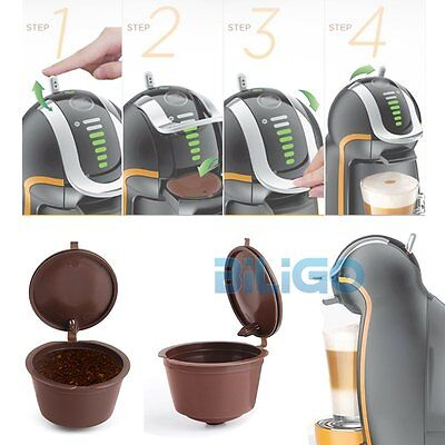 4Pcs Hot Refillable Reusable Coffee Capsules Pod Cup Dolce Gusto Compatible【AU】