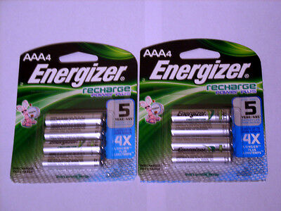 ENERGIZER RECHARGEABLE BATTERIES AAA (8 Batteries - 2 Pack *NEW)