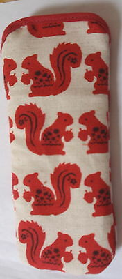 """BN- """"RED"""" SQUIRRELS- -GLASSES CASE ideal small gift"""