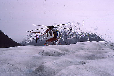35mm SLIDE :  AERONAUTICAL : NORSE GLACIER HELICOPTER ON ICE 1988 ALASKA