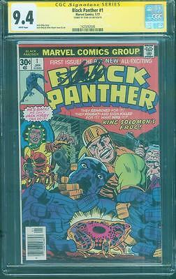 Black Panther 1 CGC SS 9.4 Stan Lee signed Civil War Movie Jack Kirby art 1977