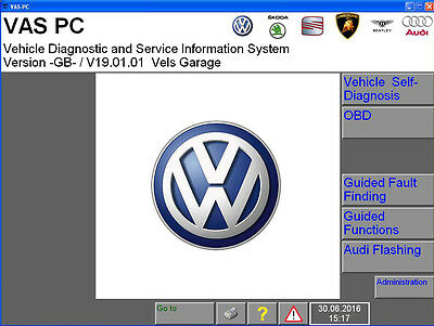 VAS PC DIAGNOSTIC SOFTWARE VW, AUDI, SEAT, SKODA for VAS5054a