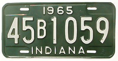 Indiana 1965 Vintage License Plate Garage Old Car Tag Rustic Pub Decor Green 45