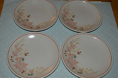 Boots Hedge Rose 19cm Side Plates x 4