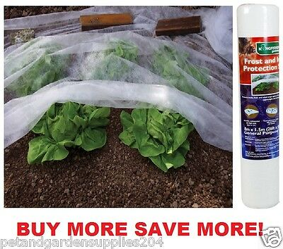 Garden Plants Frost Protection =Insect Protection Wind Protection Fleece 8 X1.5M