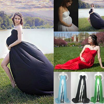 Chiffon Maternity Maxi Gown Photography Props Pregnancy Dress Pregnant Clothes