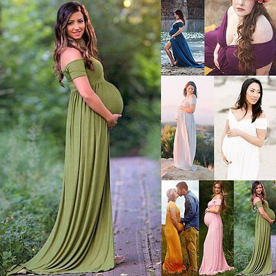 Pregnant Women Photography Dress Maternity Maxi Gown Wedding Party Dresses Props