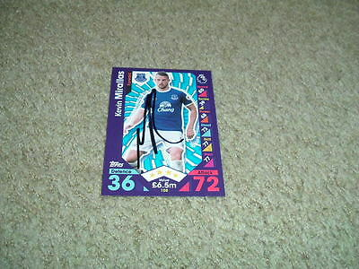 Kevin Mirallas - Everton - Signed 16/17 Match Attax Trade Card