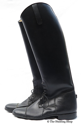 Size 8, Long Black Leather Field/Riding Boots