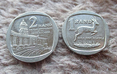 Lot of 2 South Africa Coins #13