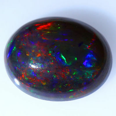1.17 Cts_Stunning Loose Gemstone_100 % Natural Multi-Color Play Black Opal !!