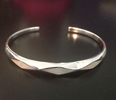 Sterling Silver Mother Of Pearl Cuff