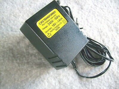 Hornby/Scalextric Slot Car:C912 Mains Power Supply Transformer Adaptor 16 Volt
