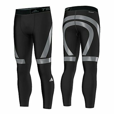 Adidas Mens Techfit POWER Compression Tights - Black/Grey - X Large