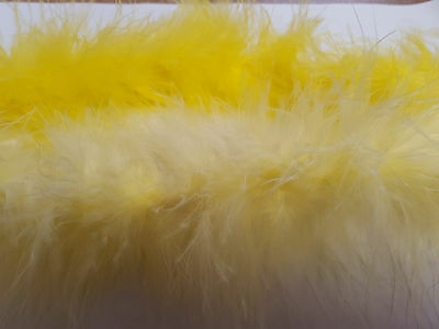 Yellow or Lemon  Marabou Swandown Feather String Trim Fluffy Soft Easter Craft