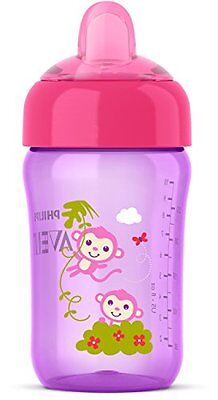 12 Oz Philips Avent Kids No-Spill Sippy Cup W/ Snap-Top Lid & Soft Spout Purple
