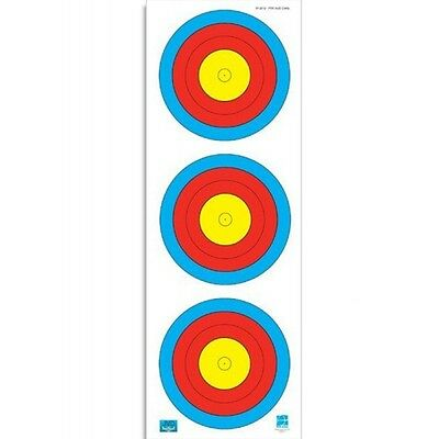 F.I.T.A. Approved 3 Spot Vertical 40cm Archery Compound Target Face - Qty10
