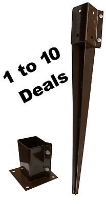 Fence Panel Post Spikes & Bolt Downs 3x3 or 4x4 from 1 to 12 deals
