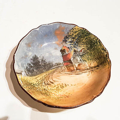 Antique Royal Doulton seriesware bowl or dish c1930s country scene