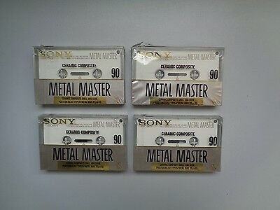4 Audio Cassette Tape SONY Metal Master From 1990 ** New & Sealed **