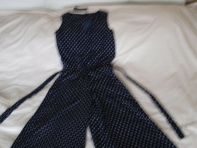 NEW! Women's size 10 Navy & White Jumpsuit by QED LONDON