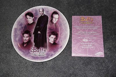Buffy Collector Plate - 'MEN OF BUFFY' -  EXCLUSIVE EDITION and RARE
