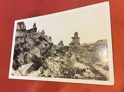 RPPC Cathedral Butte Badlands, North Dakota Unposted