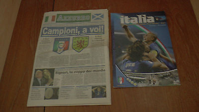 ITALY v SCOTLAND 28.3.2007 EUROPEAN QUAL PROGRAMME + STADIUM NEWSPAPER ISSUE